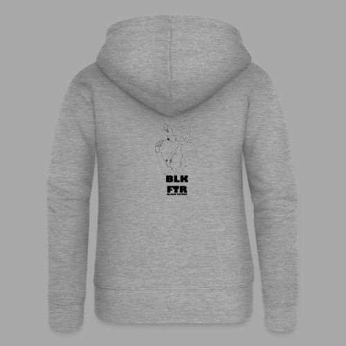 BLK FTR N°6 - Felpa con zip premium da donna