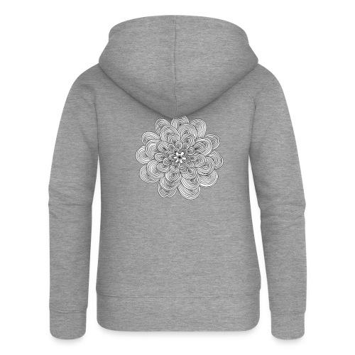 hypnotic flower - Felpa con zip premium da donna