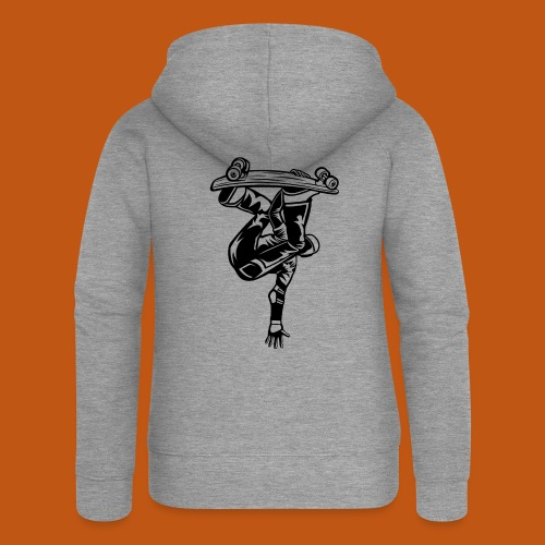 Skater / Skateboarder 03_schwarz - Frauen Premium Kapuzenjacke