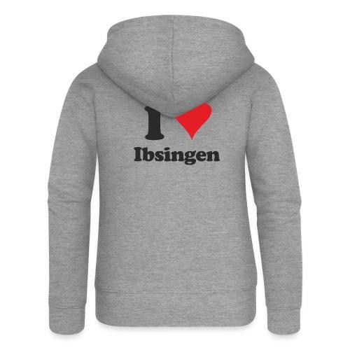 I Love Ibsingen - Frauen Premium Kapuzenjacke