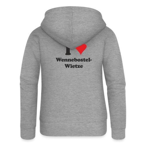 I Love Wennebostel-Wietze - Frauen Premium Kapuzenjacke