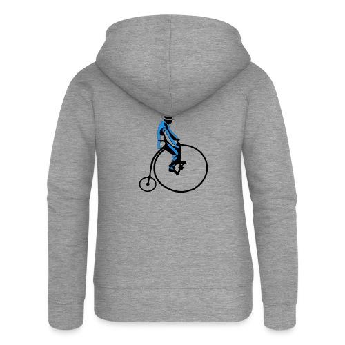 retro rower - Rozpinana bluza damska z kapturem Premium