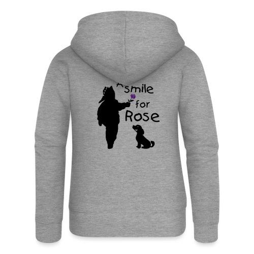 A Smile for Rose - Felpa con zip premium da donna