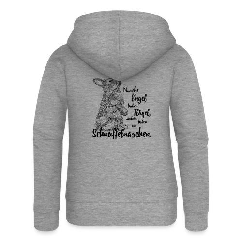 Kaninchen Hasen Zwergkaninchen Engel Liebe - Frauen Premium Kapuzenjacke