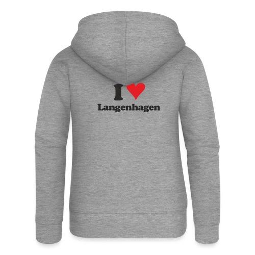 I Love Langenhagen - Frauen Premium Kapuzenjacke