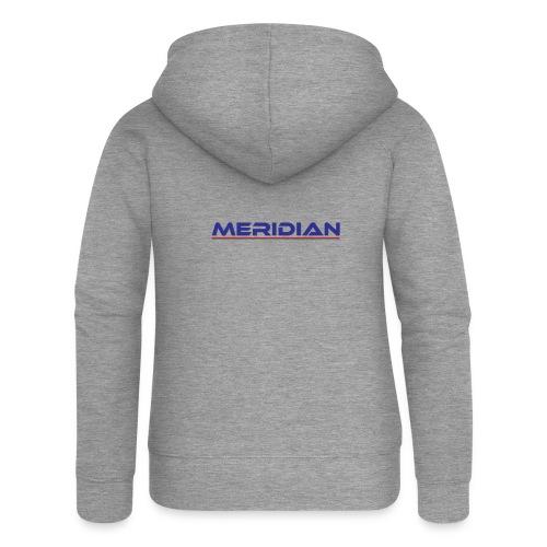Meridian - Felpa con zip premium da donna