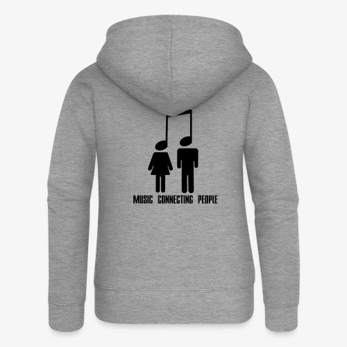 Music Connecting People - Frauen Premium Kapuzenjacke