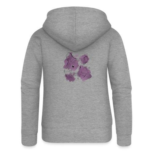 Violet splash chinchilla - Naisten Girlie svetaritakki premium