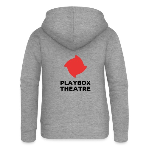 Red Playbox Logo Stacked - Women's Premium Hooded Jacket