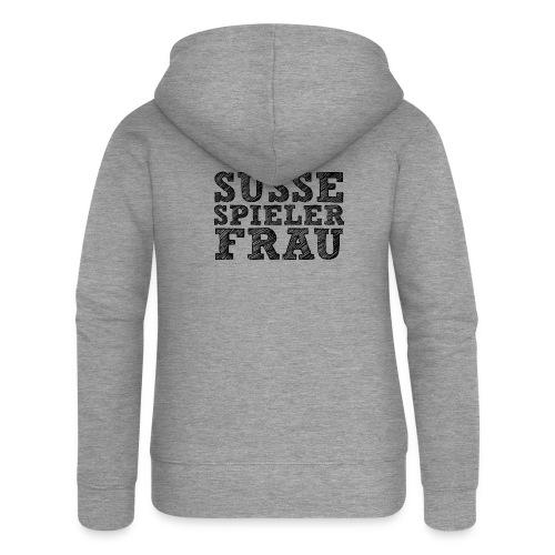 Suesse Spieler-Frau Schwarz - Frauen Premium Kapuzenjacke