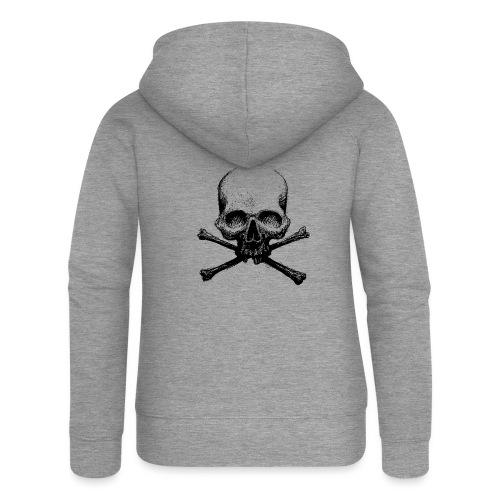 DeadSkull - Felpa con zip premium da donna