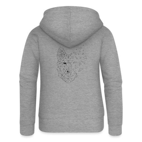 WOLF - Felpa con zip premium da donna
