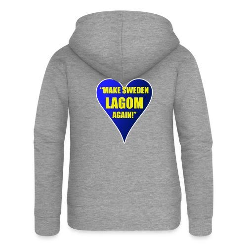 Make Sweden Lagom Again - Premium luvjacka dam