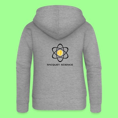 RACQUET SCIENCE - Rozpinana bluza damska z kapturem Premium