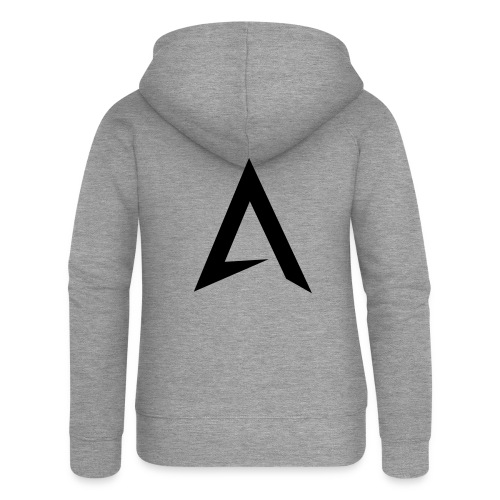 alpharock A logo - Women's Premium Hooded Jacket