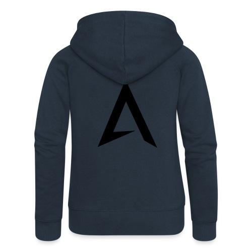 alpharock A logo - Women's Premium Hooded Jacket