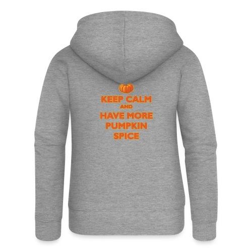 KeepCalmPumpkinSpice - Felpa con zip premium da donna