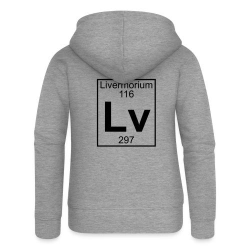 Livermorium (Lv) (element 116) - Women's Premium Hooded Jacket