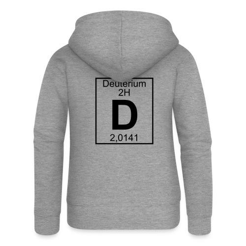D (Deuterium) - Element 2H - pfll - Women's Premium Hooded Jacket