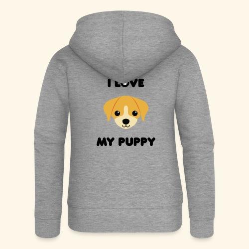 Love my puppy - Veste à capuche Premium Femme