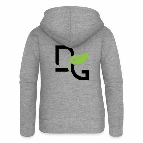 DrGreen Logo Symbol schwarz grün - Frauen Premium Kapuzenjacke
