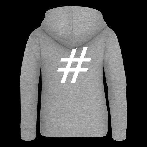 Hashtag Team - Frauen Premium Kapuzenjacke