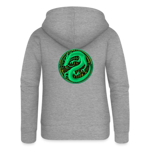 logo mic03 the gamer - Felpa con zip premium da donna
