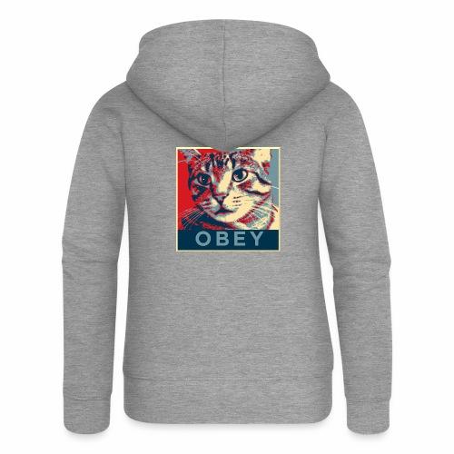 Obey the Cat! - Frauen Premium Kapuzenjacke