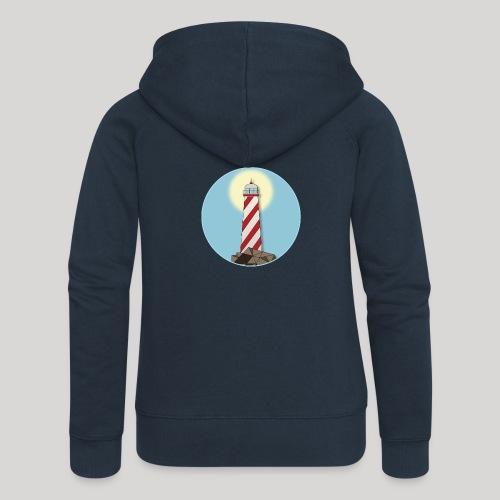 Lighthouse day - Felpa con zip premium da donna