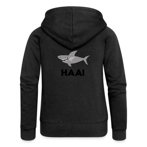 haai hallo hoi - Vrouwenjack met capuchon Premium