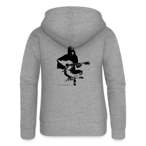 Cynthia Janes guitar BLACK - Women's Premium Hooded Jacket