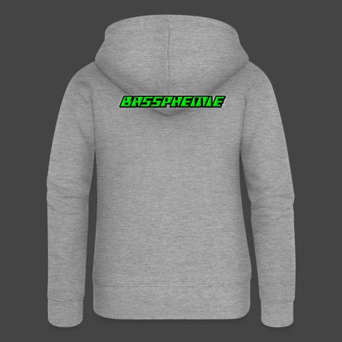 Bassphemie - Neongrün - Frauen Premium Kapuzenjacke