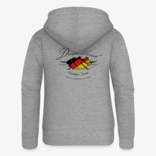 Vintage Deutschland - Frauen Premium Kapuzenjacke