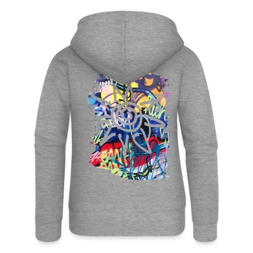 CityColors / Graffiti Sonne - Frauen Premium Kapuzenjacke