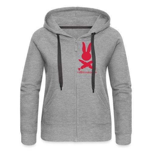 LogoKurvenHaseSchrift - Women's Premium Hooded Jacket