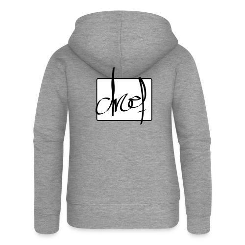 Droef.Gent logo zwart - Vrouwenjack met capuchon Premium