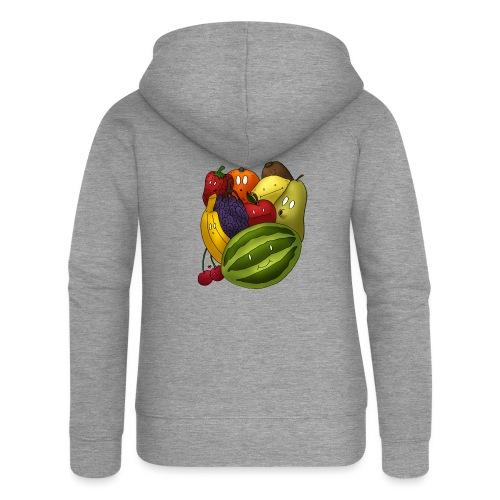 Happy Fruits - Frauen Premium Kapuzenjacke