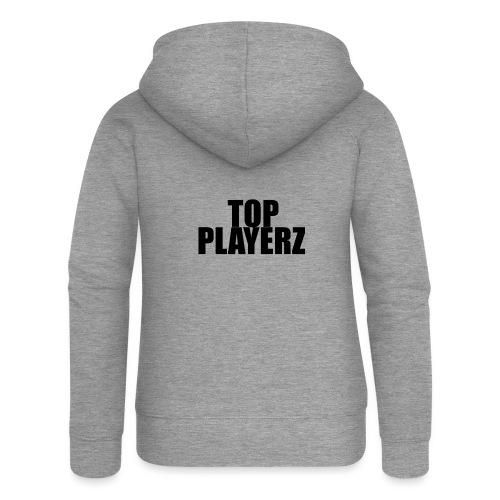 TopPlayer - Felpa con zip premium da donna