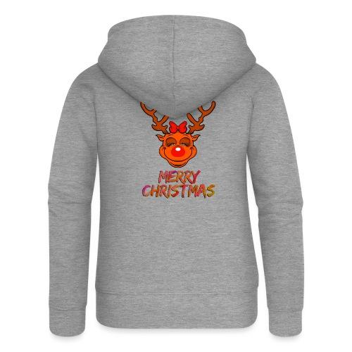 Rudolph weiblich - Frauen Premium Kapuzenjacke