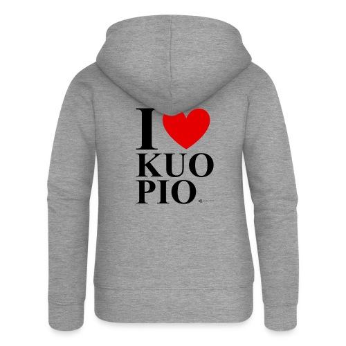 I LOVE KUOPIO ORIGINAL (musta) - Naisten Girlie svetaritakki premium