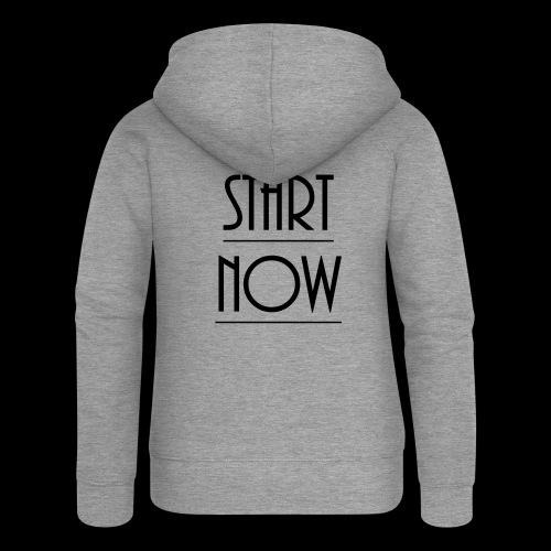 start now - Frauen Premium Kapuzenjacke