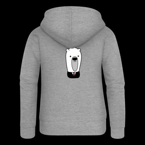officel_polarbear_shop_logo - Dame Premium hættejakke