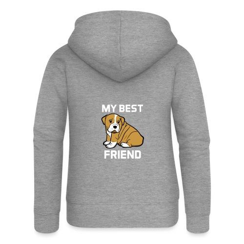 My Best Friend - Hundewelpen Spruch - Frauen Premium Kapuzenjacke