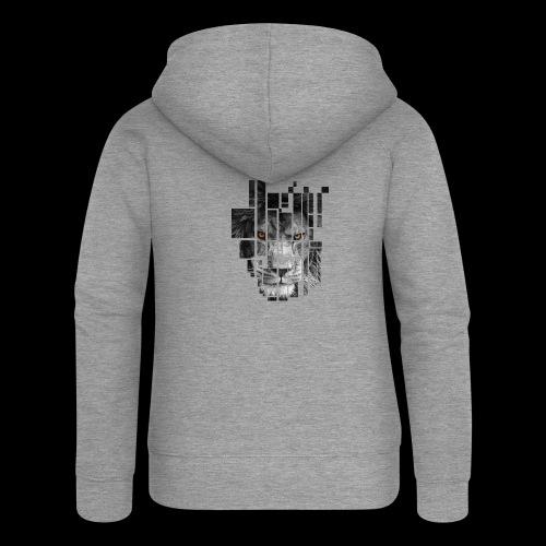 Pixel Lion Tattoo Inspire - Women's Premium Hooded Jacket