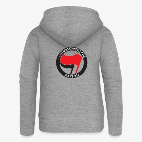Atnifaschistische Action - Antifa Logo - Women's Premium Hooded Jacket