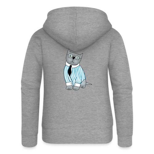 Cat with glasses - Women's Premium Hooded Jacket