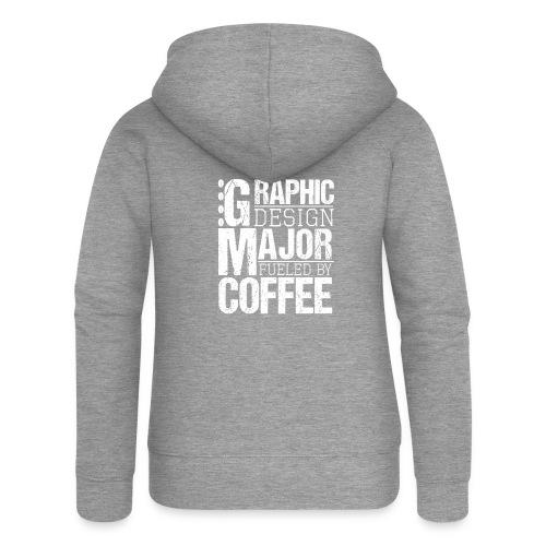 Graphic Design Major Fueled By Coffee - Frauen Premium Kapuzenjacke