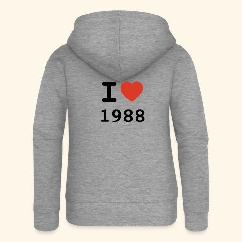 I Love 88 b 001 - Frauen Premium Kapuzenjacke