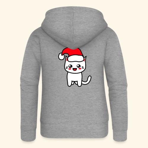 Kawaii Kitteh Christmashat - Frauen Premium Kapuzenjacke
