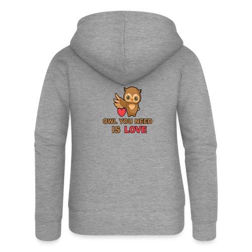 Owl You Need Is Love - Frauen Premium Kapuzenjacke